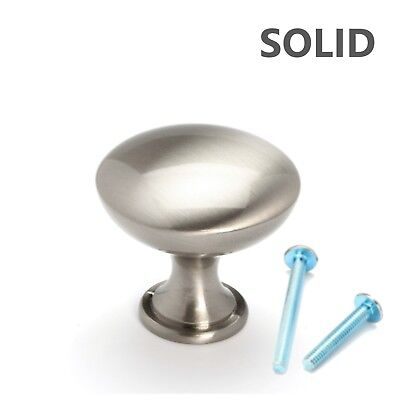 Brushed Satin Nickel Mushroom Style Kitchen Cabinet Hardware Knob Pull Handle