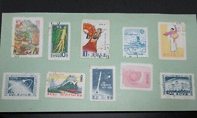 Lot 10 Timbres Coree 1957 A 1964