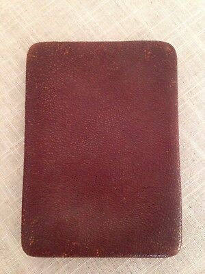 Unusual Vintage Brown Leather Document Passport Holder Wallet Case