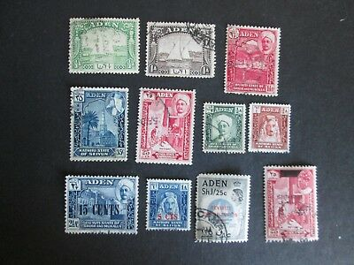 Aden and States 1937-59  definitives Fine used