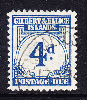 GILBERT & ELLICE IS 1940 SGD4 4d blue - Postage Due - very fine used. Cat £35