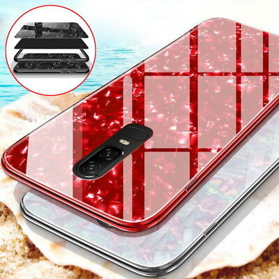 For Samsung S8 S9 Plus Note 8 Note 9 Case Marble Tempered Glass Hard Phone Cover