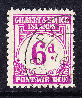 GILBERT & ELLICE ISLANDS 1940 SGD6 6d purple Postage Due very fine used. Cat £35