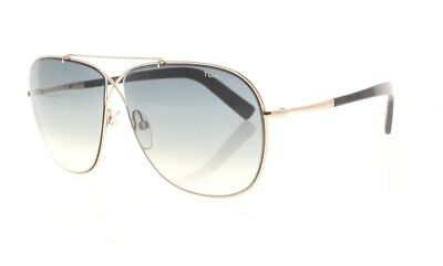 a44d63acb45f TOM FORD APRIL TF 393 28P Gold   Black   Gray Gradient Sunglasses NWD AUTH