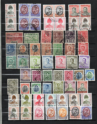 Thailand 62 Different Used Stamps + 40 Duplicates