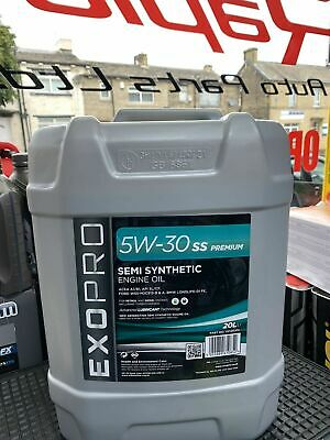 SEMI SYNTHETIC 5W30 TRIPLE QX PETROL & DEISEL ENGINE OIL 20ltr  FREE POSTAGE