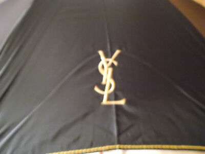 Vintage Black Yves Saint Lauren Canopy Umbrella  With Cover  Never Used
