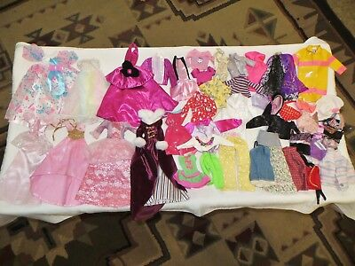 """Barbie Doll Or 12"""" Size Clothes Lot 30+ Piece Gowns~Birthday Dress~Skirts~Tops"""