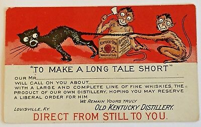 Unique Antique UDB - Advertising Card for Old Kentucky Distillery Louisville, KY