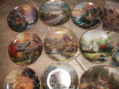 Thomas Kinkade Plate Lot Guiding Lights Simpler Times Nature's Retreats Calendar