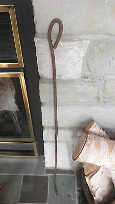 """32""""-Antique-Centry-HEARTH-Tool-HAND-FORGED-Iron-FIREPLACE-Ember-POKER"""