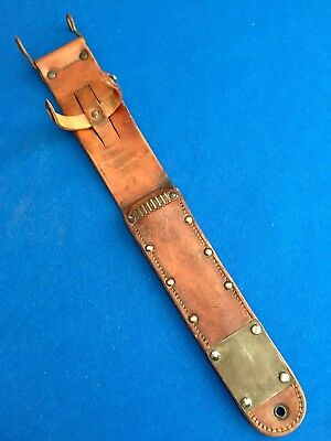 Vintage WWII US M6 VINER BROS. Leather Sheath 1943 for US M3 Fighting Knife EXT!