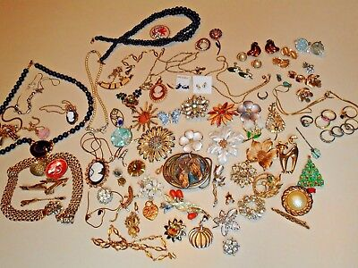 Lot of Vintage Estate & Current Mixed Costume Jewelry 75+ Pieces