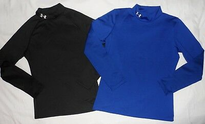 **Under Armour**Boys Long-Sleeve Fitted ColdGear lot of 2 size YXL**GUC