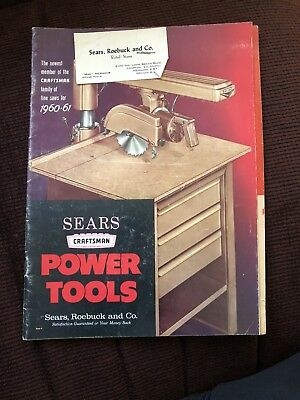 Vintage 1960-61 Sears Roebuck And Co Craftsman power tools catalog