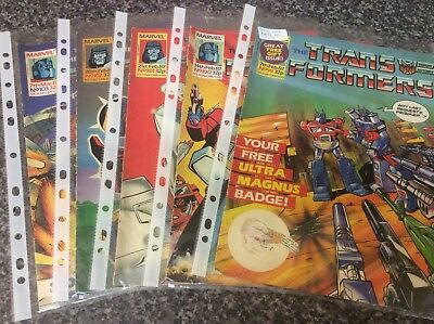 Vintage Transformers Comic Issues 99 100 101 102 103 Marvel Uk