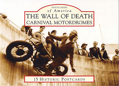 New! Wall Of Death Carnival Motordrome Postcard Set Indian Scout Motorcycles