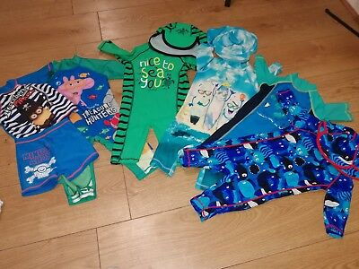 Baby Boys Swimsuit Collection 18-24 Months includes all on ones with hats and 2
