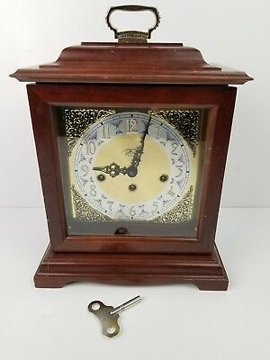 Vintage Mantle Clock Ridgeway Cloack Westminister Chimes Germany Wind Up Working