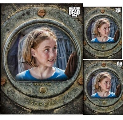 3X Sophia-Cost Of Life-Gray-Wave 3-Topps Walking Dead Card Trader
