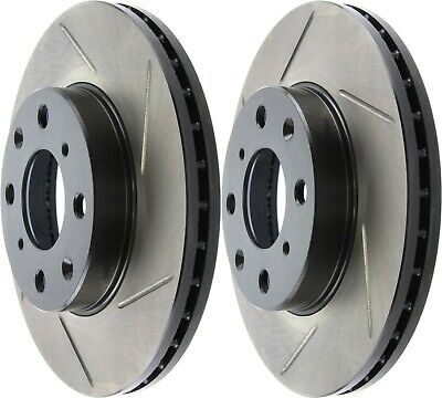 UC430 Stoptech 126.40023 Slotted Brake Discs Front Set Fits Honda 90-2000 Civic