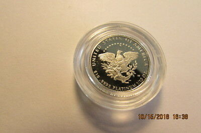 2005 $10 Platinum Eagle Proof Plus  Original packaging, 1/10 ounce Liberty