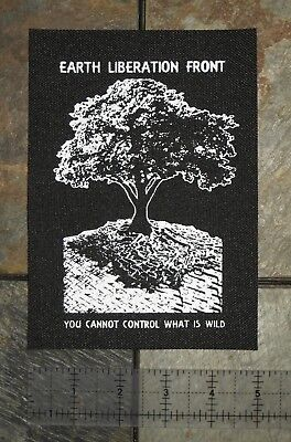 Earth Liberation Front Patch Punk Vegan Rights Welfare Nature Animal First Human