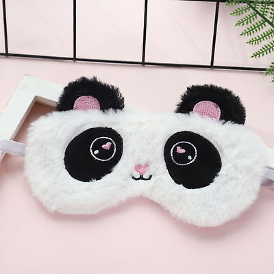 Plush Eye Mask Kawaii White Panda Blindfold Eye Patch Airplane Nap Sleep Mask