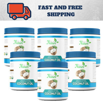 6 x 1ltr Extra Virgin Coconut Oil,100% Organic Raw: THE VERY BEST AMAZING VALUE