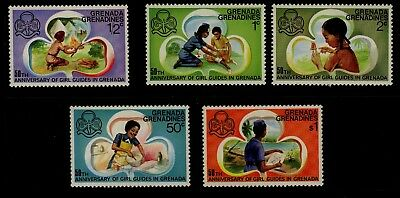 Grenada 1976 - 50th Anniversary Girl Guides set - Mint