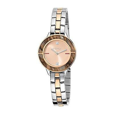 Furla Women's R4253109508 CLUB Rose Satin Dial Two-Tone Stainless Steel Watch