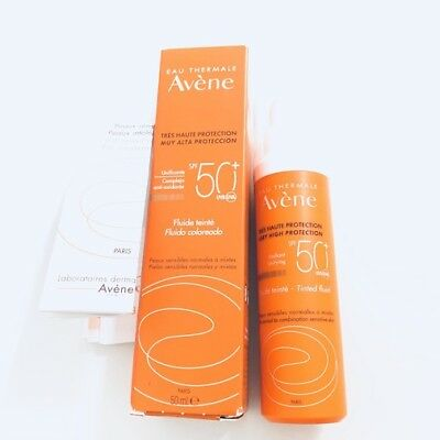 Avene Fluido Coloreado SPF50+ Pieles Sensibles Normales/Mixtas/Grasa 50 ml