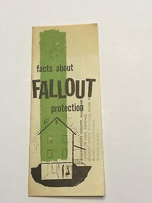 Ephemera Vintage 1960 Nuclear Fallout Protection Civil Defense Guide