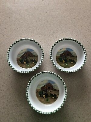 John Deere Cereal Bowls-Set Of 3