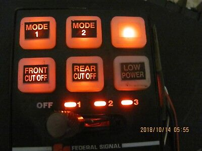 Federal Signal 6- Button W/ Slide Serial Lightbar Controller For Legend, Arjent