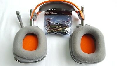 Astro A40 Orange and Grey Headset + 1.0m Cable for Xbox, PS4, PC Gaming