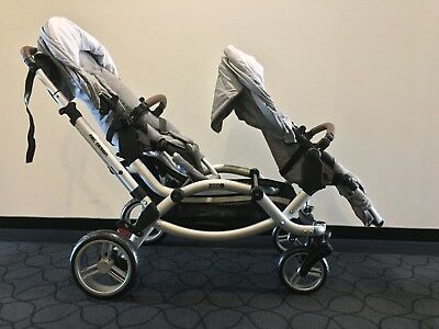 ABC Design Zoom two seat pram, silver. Suit new buyer.