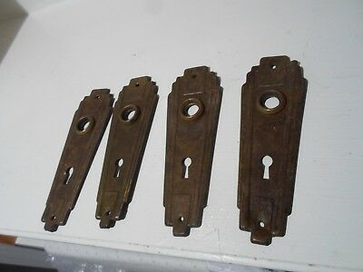 set of 4 matching Art Deco door back plates!!! !
