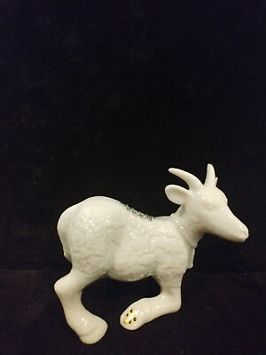 "LENOX Jewels Nativity Kneeling Goat - Hard to find  4 1/2"" X 5"" Retired"