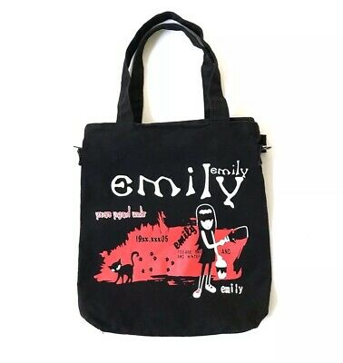 5f2b0eed72 90s Goth Gothic Emily The Strange Black Red Messenger Bag Tripp NYC Hot  Topic