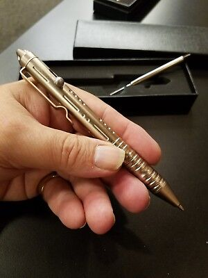 Tactical Pen W Styling And Tungsten Steel Tip gold 3 day dlvy