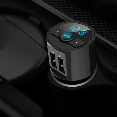 SUV Car Radio FM Transmitter Bluetooth Adapter 12V USB Charger MP3 Player Black
