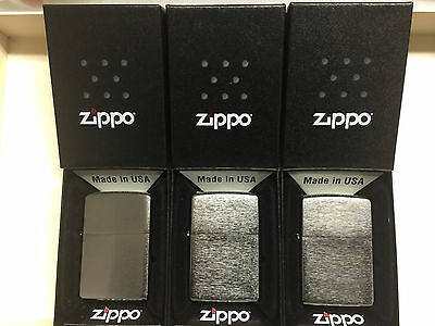 Zippo Satin Chrome Full Size Classic Windproof Lighter-3Pc Lot #M205-New In Box