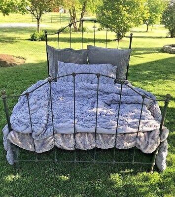 Antique Cast Wrought Iron Bed