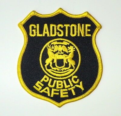 Gladstone Michigan Public Safety Patch Delta County Michigan Police Patch MI