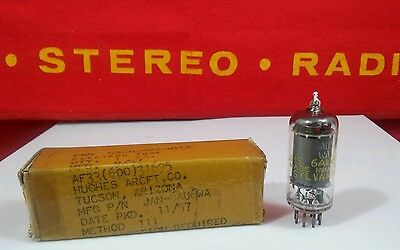 JHS 6AU6WA NOS NIB Gray Plate Top D GET  Vacuum Tube Tested