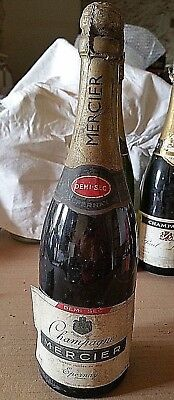 Ancienne bouteille Champagne  MERCIER  EPERNAY DEMI- SEC old french bottle