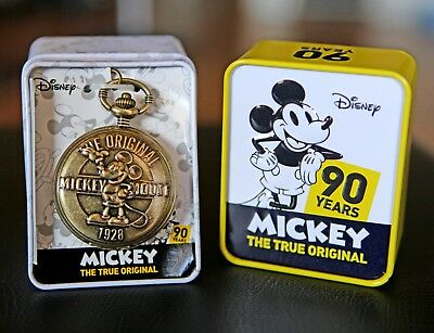 Disney Mickey Mouse 90th Anniversary Commemorative Pocket Watch (NEW)