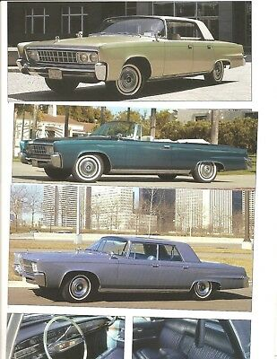 1964 1965 1966 Imperial 12 Pg Color Article Lebaron Crown