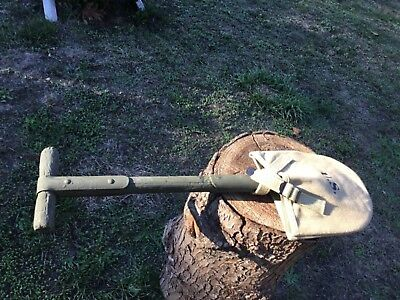 WW1 WWI M1910 t handle shovel entrenching rough but intact free repro cover